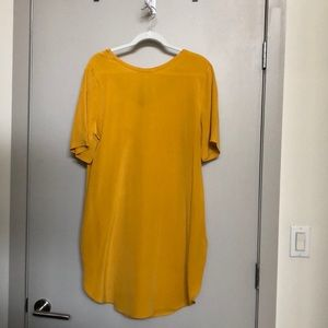 NWOT COS yellow silk dress